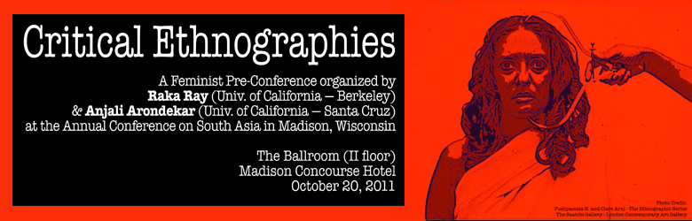 Critical Ethnographies conference poster
