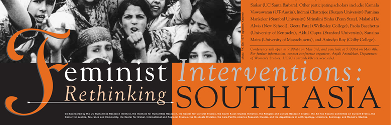 Feminist Intervention - Rethinking South Asia   Spring 2002