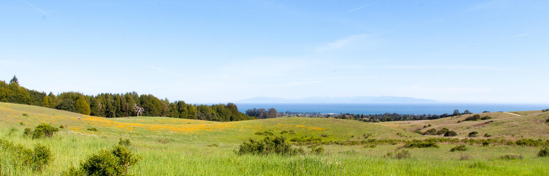 View of the meadow and Monterey Bay